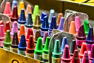 Childrens Book Photograph - Crayons - All That Color by Paul Ward