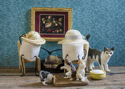 Crazy Cat Mallows Print by Heather Applegate