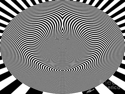 Op Art Digital Art - Crazy Circles by Methune Hively