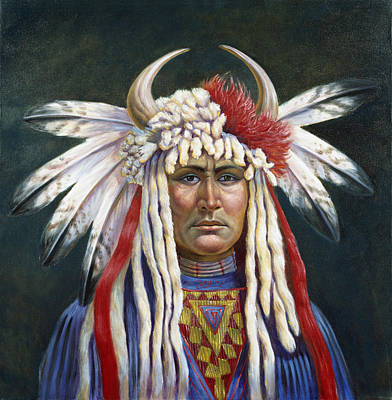 Hawks Mixed Media - Crazy Horse by Gregory Perillo