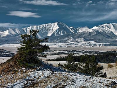 Winter Photograph - Crazy Mountains Montana by Leland D Howard