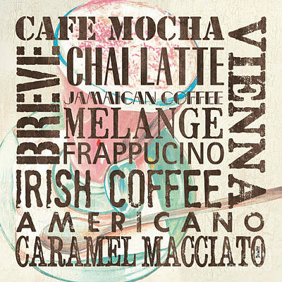 Cream Coffee Of The Day 1 Print by Debbie DeWitt