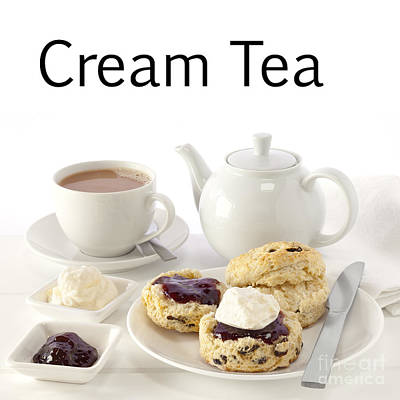 Customizable Photograph - Cream Tea by Colin and Linda McKie