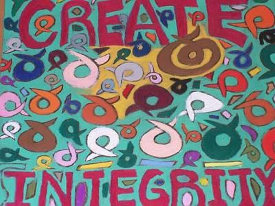 Optimistic Drawing - Create Integrity by Jonathon Hansen