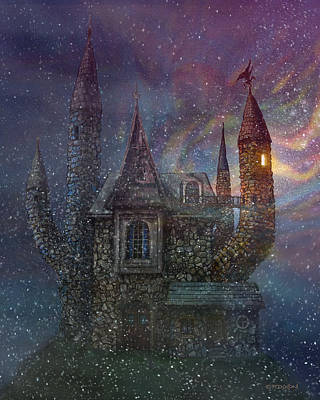 Secret Digital Art - Creativity Castle by Frank Robert Dixon