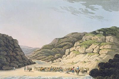 Creek Of Maceira, From Sketches Print by M., Bradford