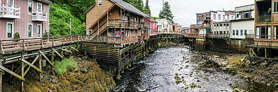 Creek Street On Ketchikan Creek Print by Panoramic Images