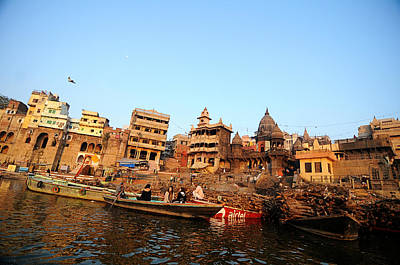 Cremation Ghat Photograph - Cremation Ghat Of Varanasi by Money Sharma