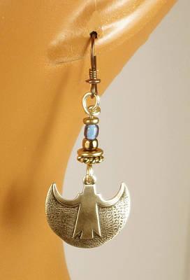 Dangle Earrings Jewelry - Crescent Goddess Earrings by Vagabond Folk Art - Virginia Vivier