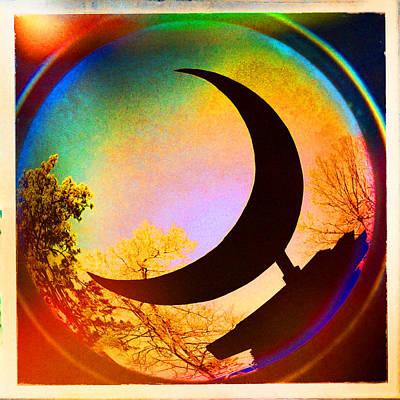 Eureka Springs Digital Art - Crescent Moon Over Eureka Springs by Garry McMichael