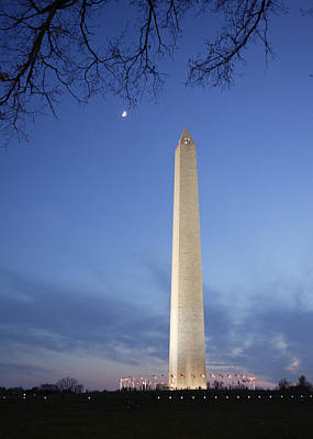 Crescent Moon Over Nations Monument Original by Jaime Costanzo