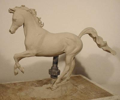 Horse Sculpture - Crescent Princess by Hugh Blanding