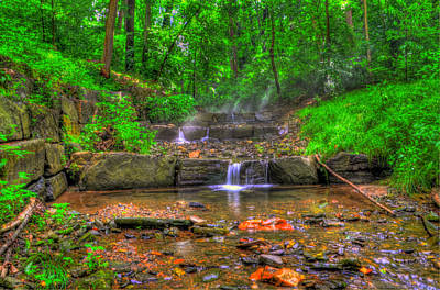 Cresheim Creek - Philadelphia Pa Print by Bill Cannon