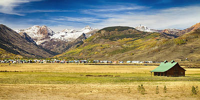 Corporate Art Photograph - Crested Butte City Colorado Panorama View by James BO  Insogna