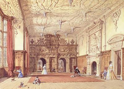 Pendant Painting - Crewe Hall, Cheshire by Joseph Nash