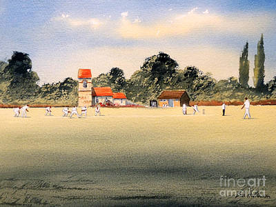Cricket Painting - Cricket by Bill Holkham