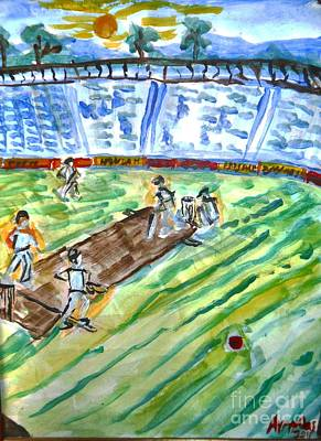 Cricket Mixed Media - Cricket-day by Ayyappa Das