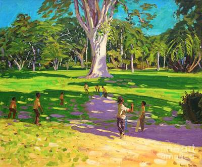Match Painting - Cricket Match St George Granada by Andrew Macara