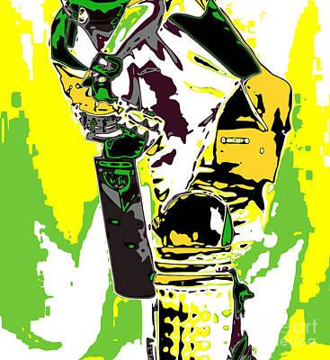 Cricket Digital Art - Cricketer by Chris Butler