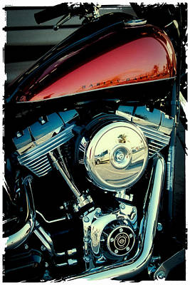 Harley-davidson Photograph - Crimson Hog by David Patterson