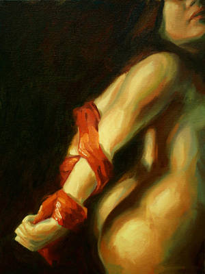 Restrained Painting - Crimson Subjugation by Alison Schmidt Carson