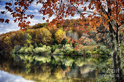 Crisp Autumn Day In New Jersey Print by George Oze