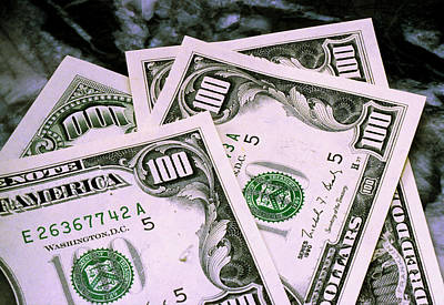 Money Photograph - Crisp Benjamins by Jerry McElroy