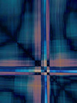 Vibrating Digital Art - Crisscross...four by Tom Druin