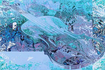 Cristal Violin Print by Moustafa Al-Hatter