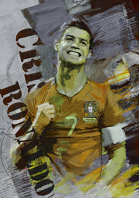 Cristiano Ronaldo Print by Corporate Art Task Force