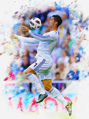 Cristiano Ronaldo Of Real Madrid Chest The Ball Original by Don Kuing