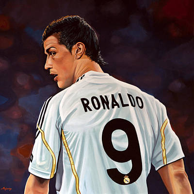 Football Painting - Cristiano Ronaldo by Paul Meijering
