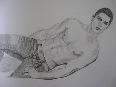 Cristiano Ronaldo Drawing - Cristiano Ronaldo by Rahul Verma
