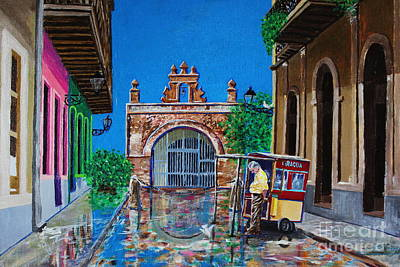 Puerto Rico Digital Art - Capilla De Cristo - Old San Juan by The Art of Alice Terrill
