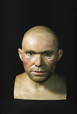 Cro-magnon Man Reconstructed Head Print by Science Photo Library