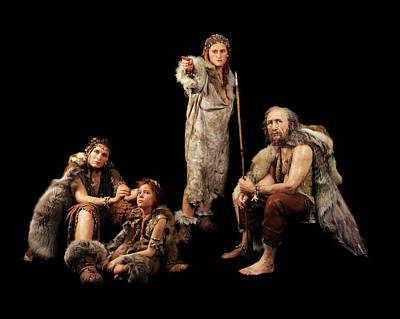 Fossil Reconstruction Photograph - Cro-magnon People by S. Entressangle/e. Daynes