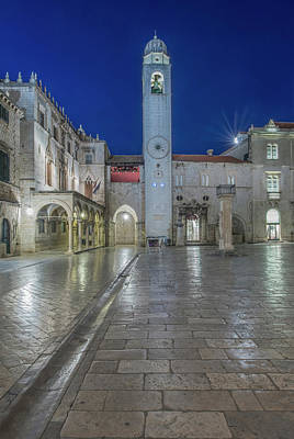 Dubrovnik Photograph - Croatia, Dubrovnik, Stradun And Bell by Rob Tilley