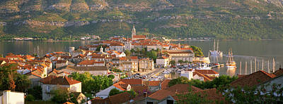 Rooftop Photograph - Croatia, Korcula, Korcula Island, City by Panoramic Images