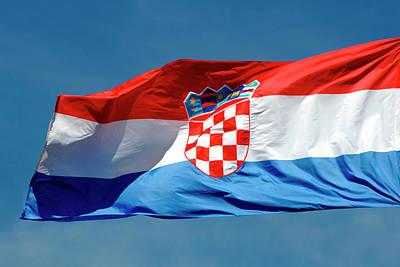 Blue Coat Photograph - Croatian Flag by Prisma Archivo