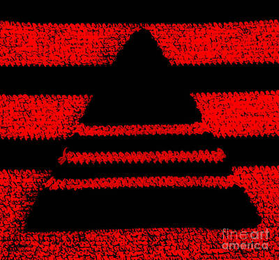 Crochet Pyramid Digitally Manipulated Print by Kerstin Ivarsson
