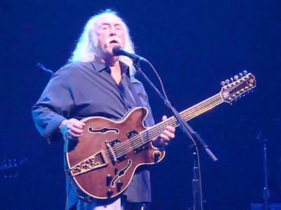 David Crosby Photograph - Crosby Concert View by Alice Gipson