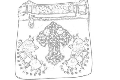Drawing Drawing - Cross And Roses by Kim Stafford