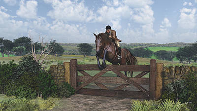 Countryside Digital Art - Cross Country by Jayne Wilson