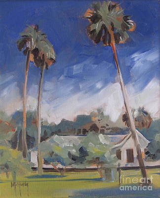 Rawlings Painting - Cross Creek Palms  by Mary Hubley