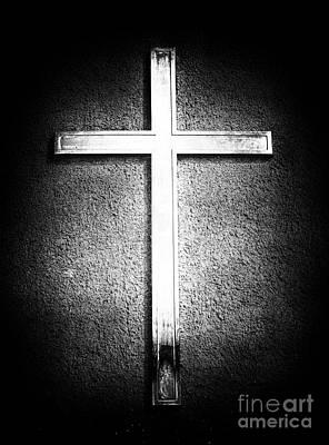 Religious Artist Photograph - Cross by John Rizzuto