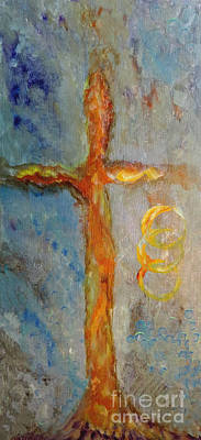 Jesus Art Drawing - Cross Of Endless Love by Ella Kaye Dickey