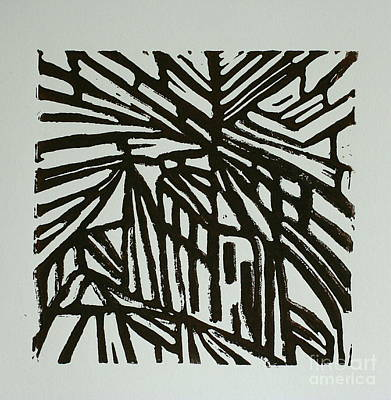 Lino-cut Mixed Media - Cross Way I by Christiane Schulze Art And Photography