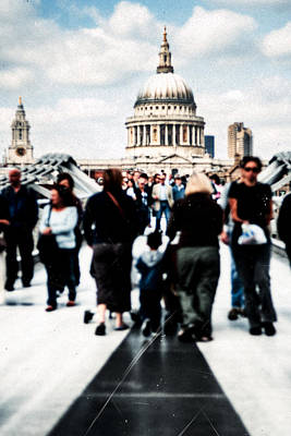 Cathedral Photograph - Crossing Over The Thames by Mark E Tisdale