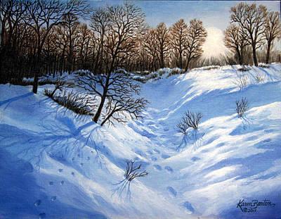 Crossing Paths Original by Artist Karen Barton
