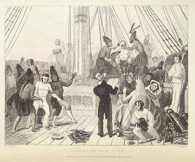 Crossing The Line Print by British Library